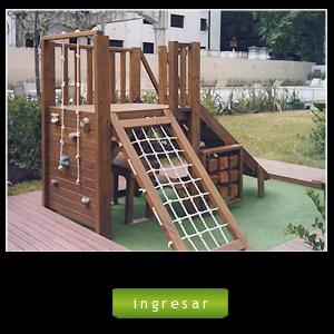 Juegos de madera para instituciones colegios edificios barrios for Juegos de jardin infantiles de madera