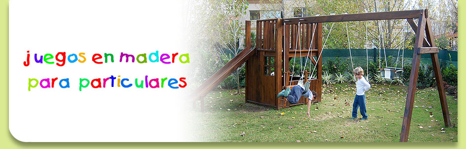 Juegos y construcciones en madera para chicos juegos de madera juegos del bosque for Juegos de jardin infantiles de madera