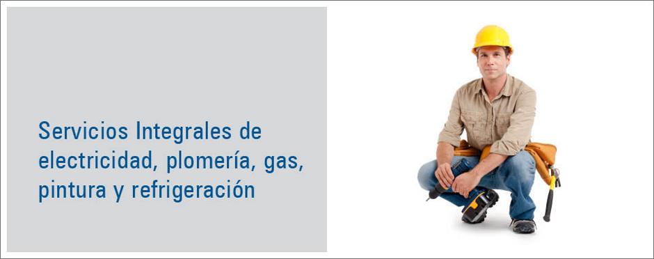 Servicios de electricidad, plomería y gas